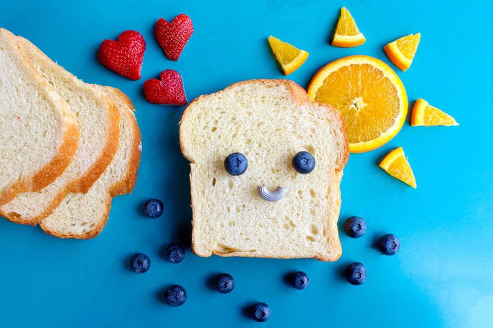 可愛い食パンの写真