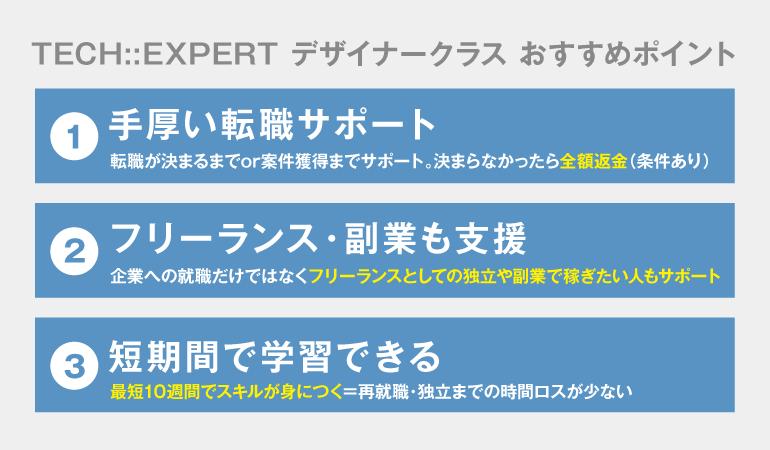 TECH::EXPERTデザイナークラスおすすめポイントの説明画像