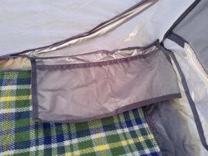 テント内部の収納ポケットの写真