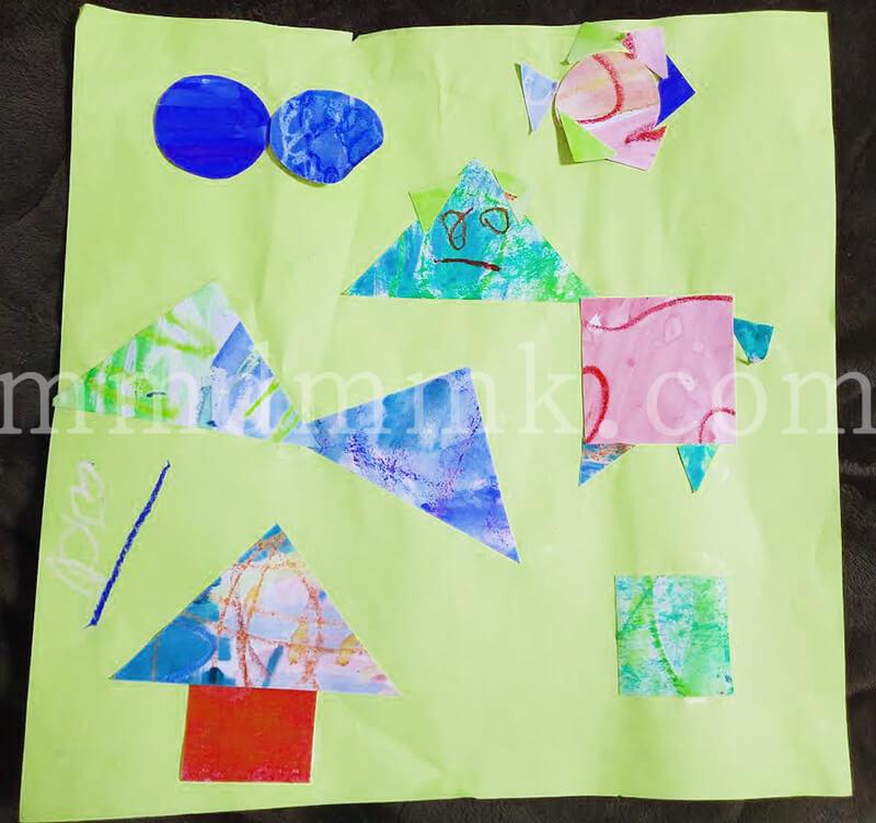子どもが絵画造形教室で作った作品の写真